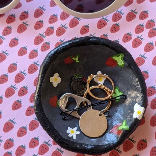 Strawberry Trinket Dish