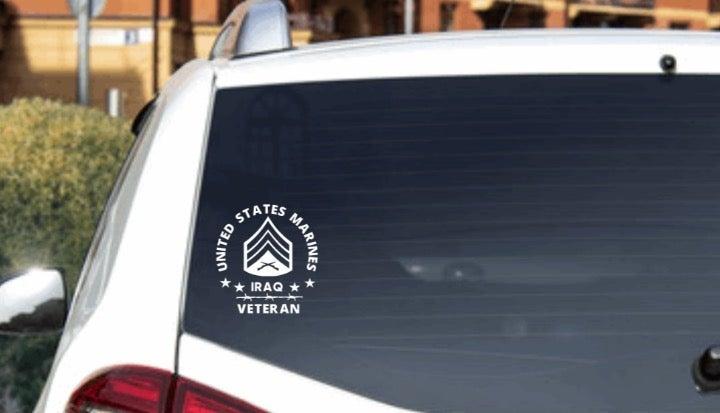 US MARINE CORPS SERGEANT IRAQ USMC DECAL