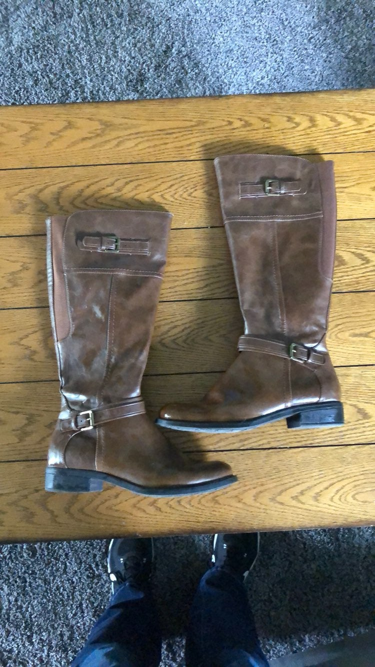 Relativity Brown Riding Boots- Size 8