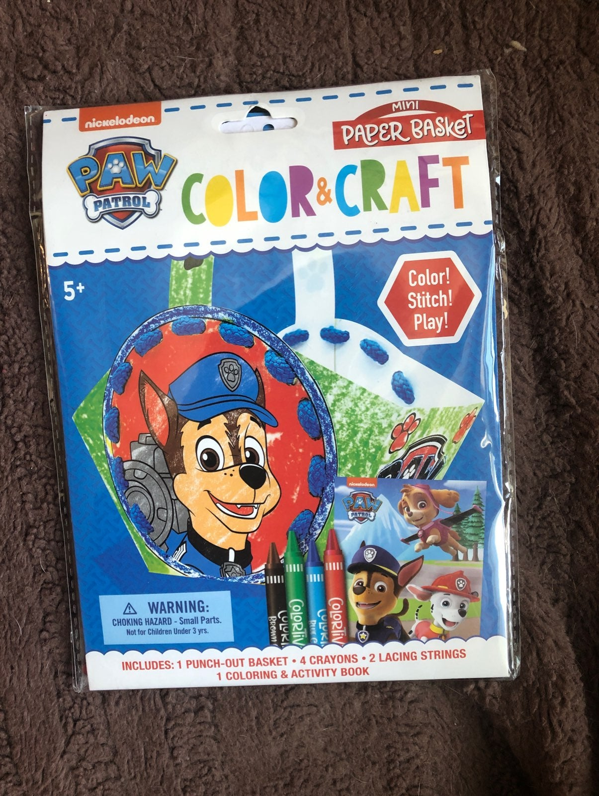 Paw patrol color and craft actuvity kit