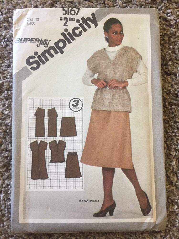 1981 Simplicity sewing pattern 5167 top