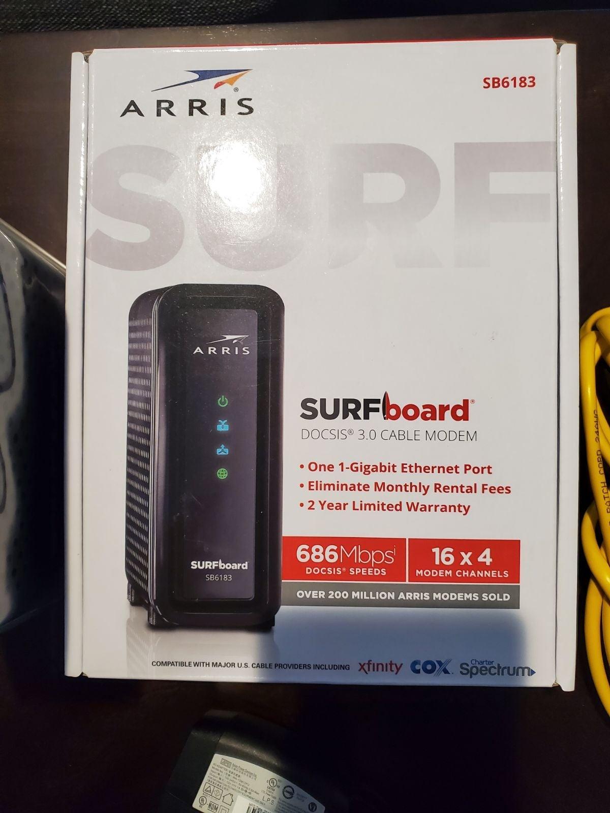 Arris Surfboard Cable modem 686 MBPS