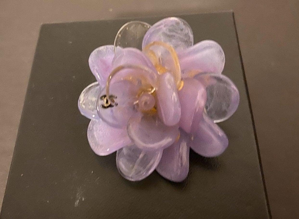 Chanel Camellia flower pin brooch