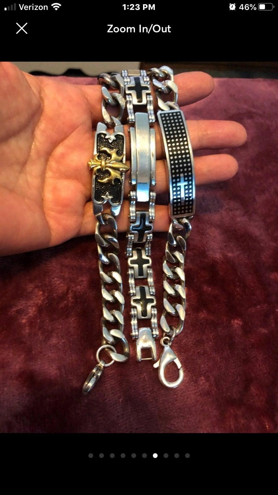 Men's Bracelets, Bracelet in Two-Tone St