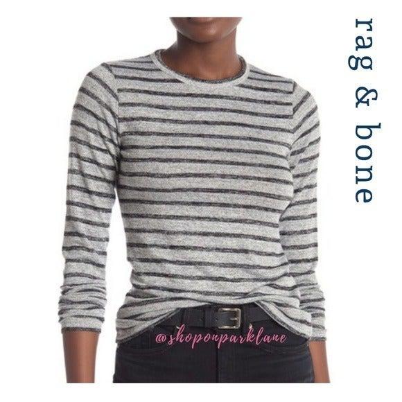 rag & bone Striped Slim Long Sleeve Top