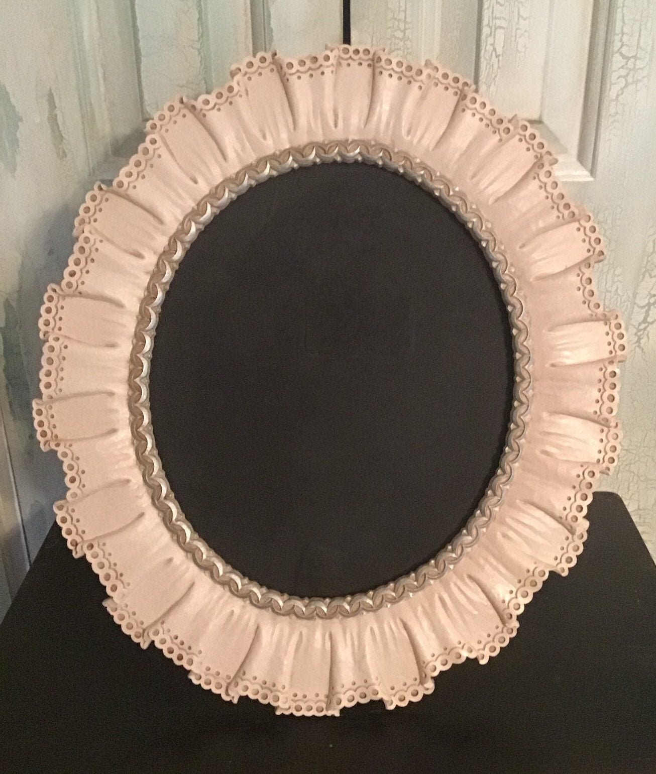 Large Oval Syroco Wood Picture Frame
