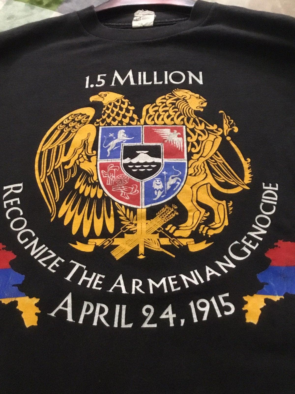 Armenian genocide awareness tshirt