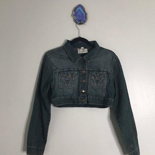 Crest jeans L crop jean jacket