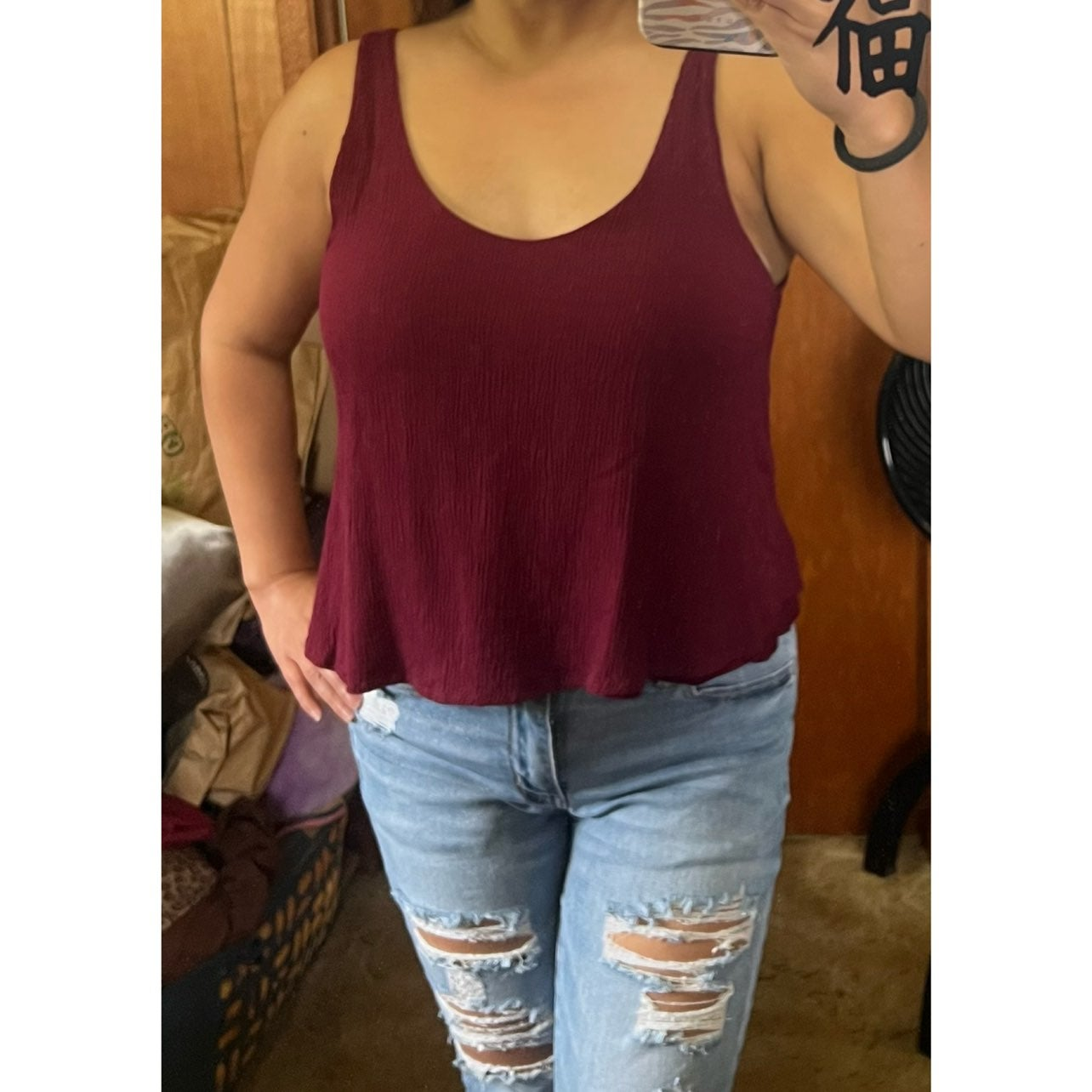 Ambiance Crop Tank Top, Small, BNWOT
