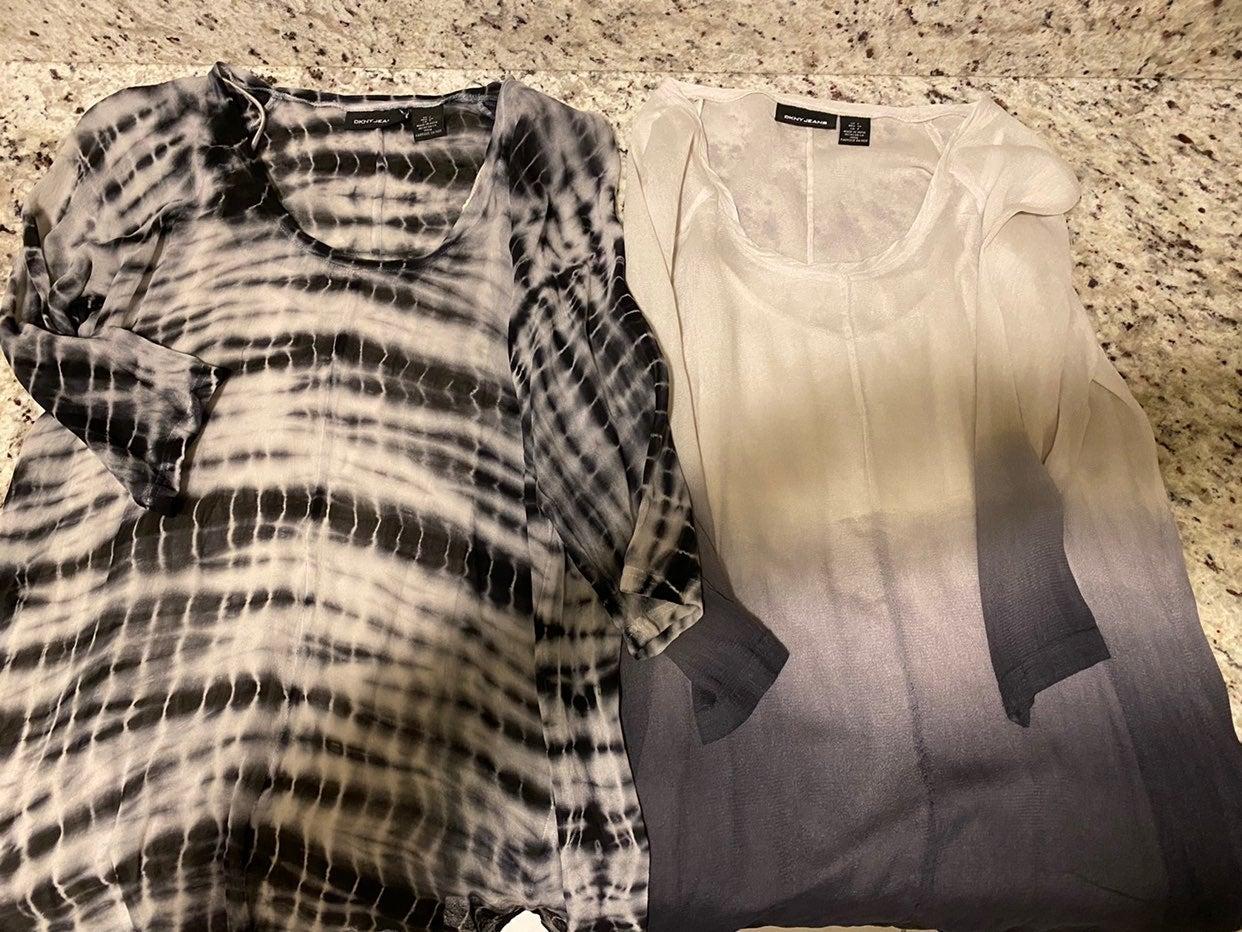WoLot Of 2 DKNY Tops Ombre Tie Dye