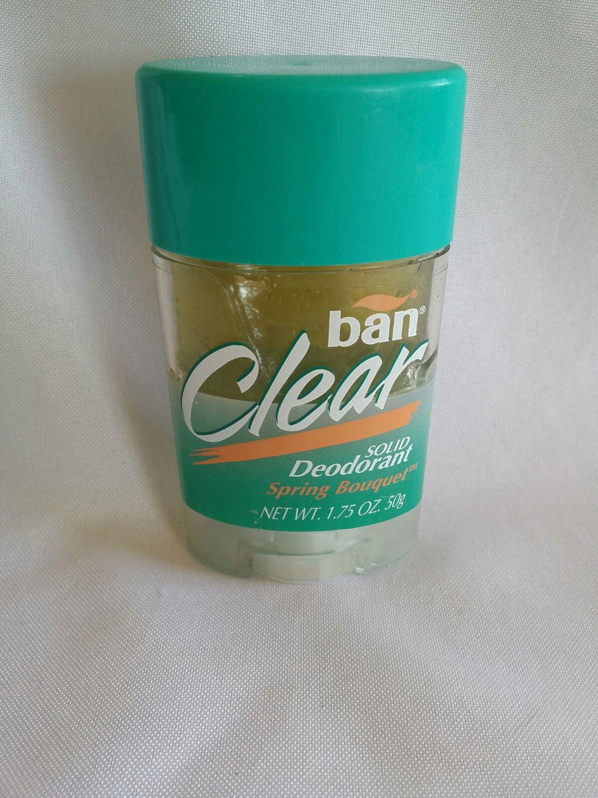 Vintage BAN Clear Solid Deodorant Spring