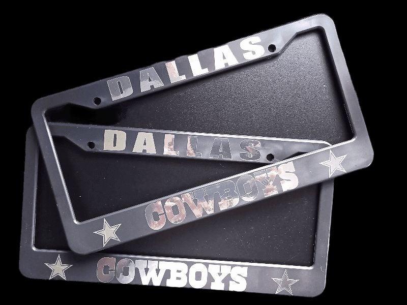 Set of 2 Cowboys License Plate Frames