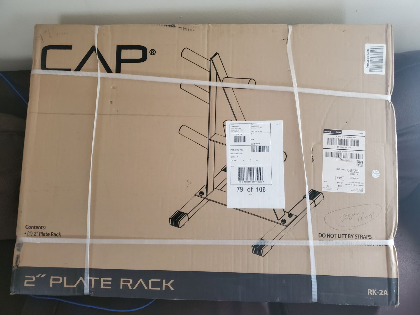 CAP 2 INCH PLATE RACK WEIGHTS (no weight
