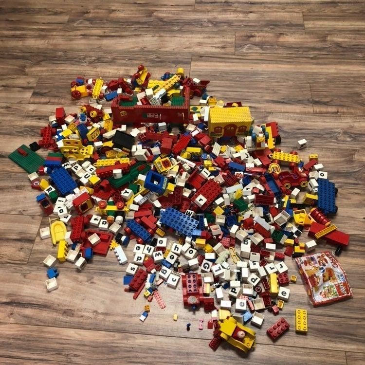 17 lb Box of Legos