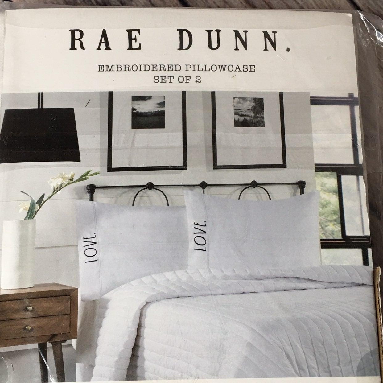 Rae Dunn LOVE 2 Standard Pillow Cases