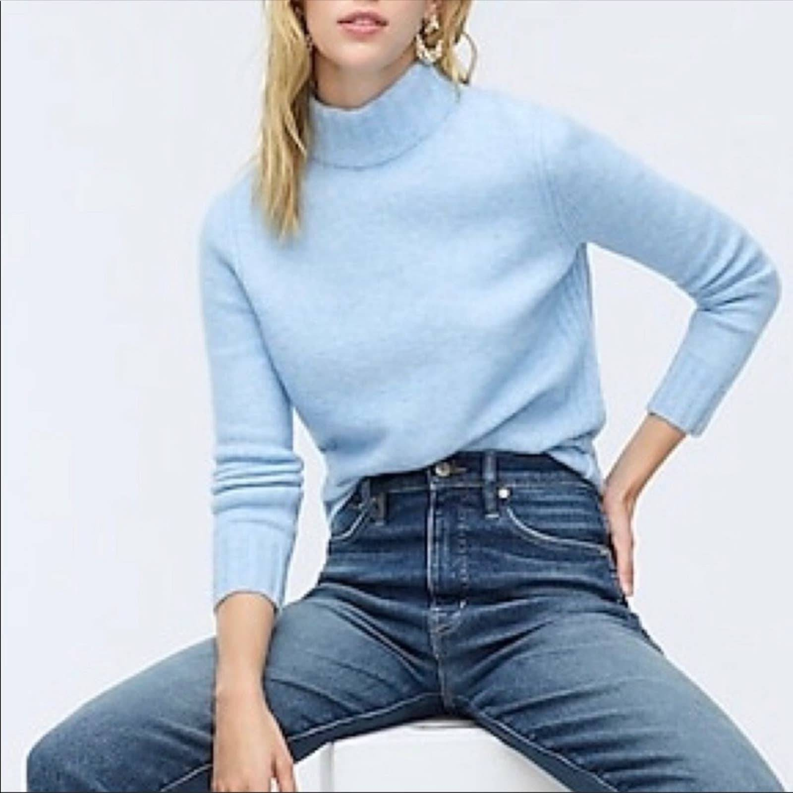 NWT J Crew Mock Neck Point Sur Sweater