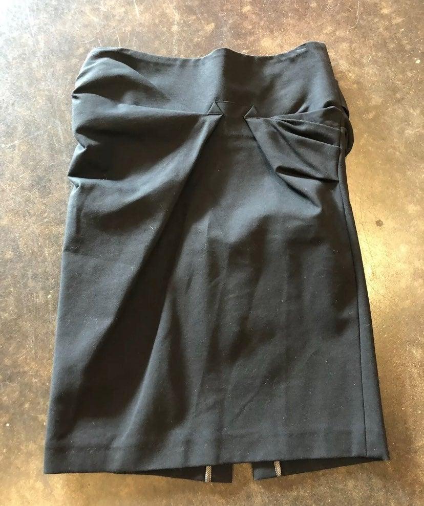 Brunello Cucinelli Black cotton pencil s