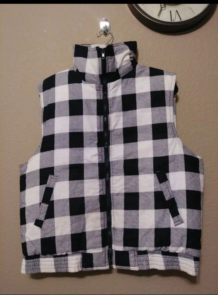 Buffalo plaid Vest jacket