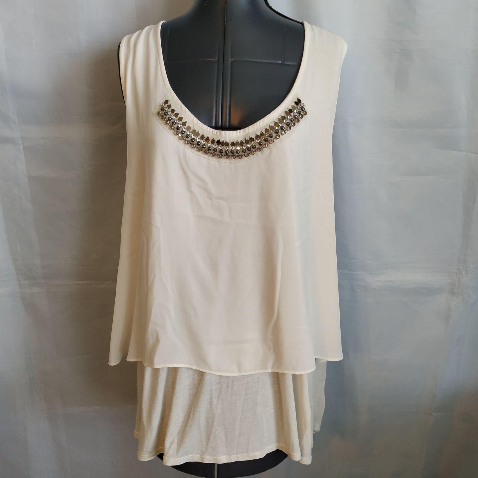 Jessica Simpson Tank Top Shirt 3x beaded