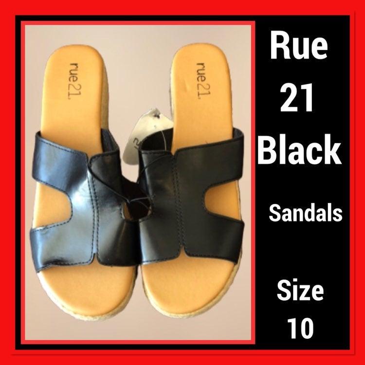 Rue21 Black21 Sliders Size 10