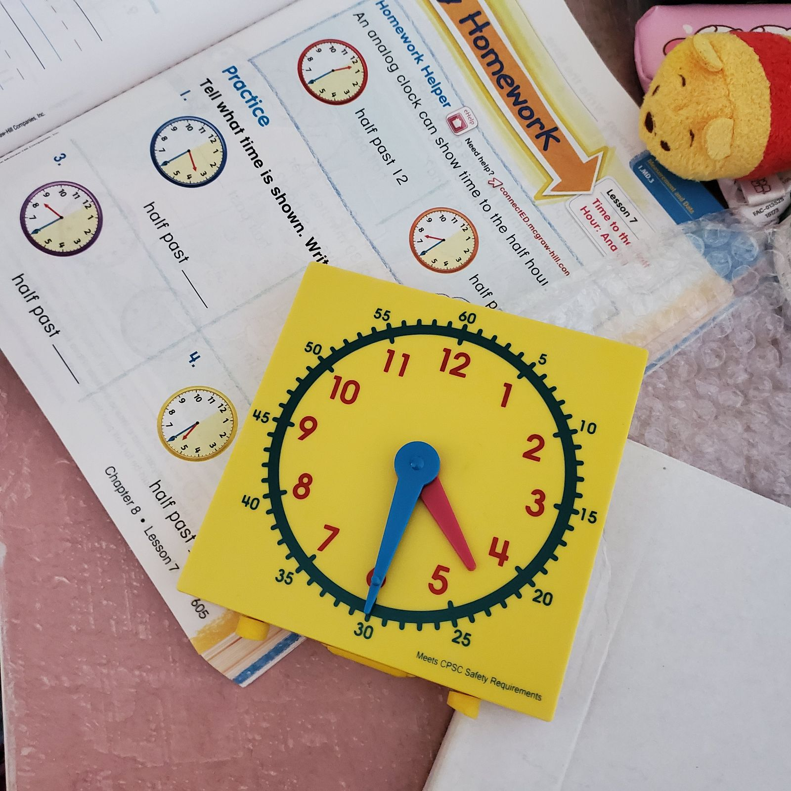 Learning clock for elementary kids