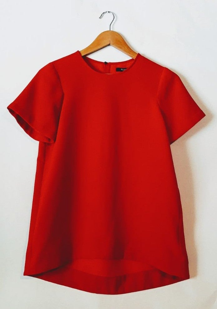 Madewell Red Blouse Small