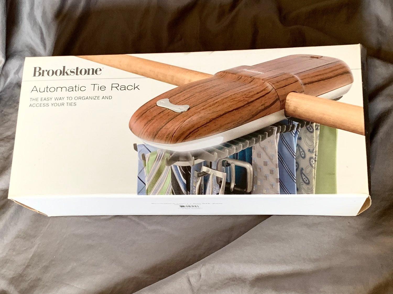 New Brookstone Automatic Tie Rack