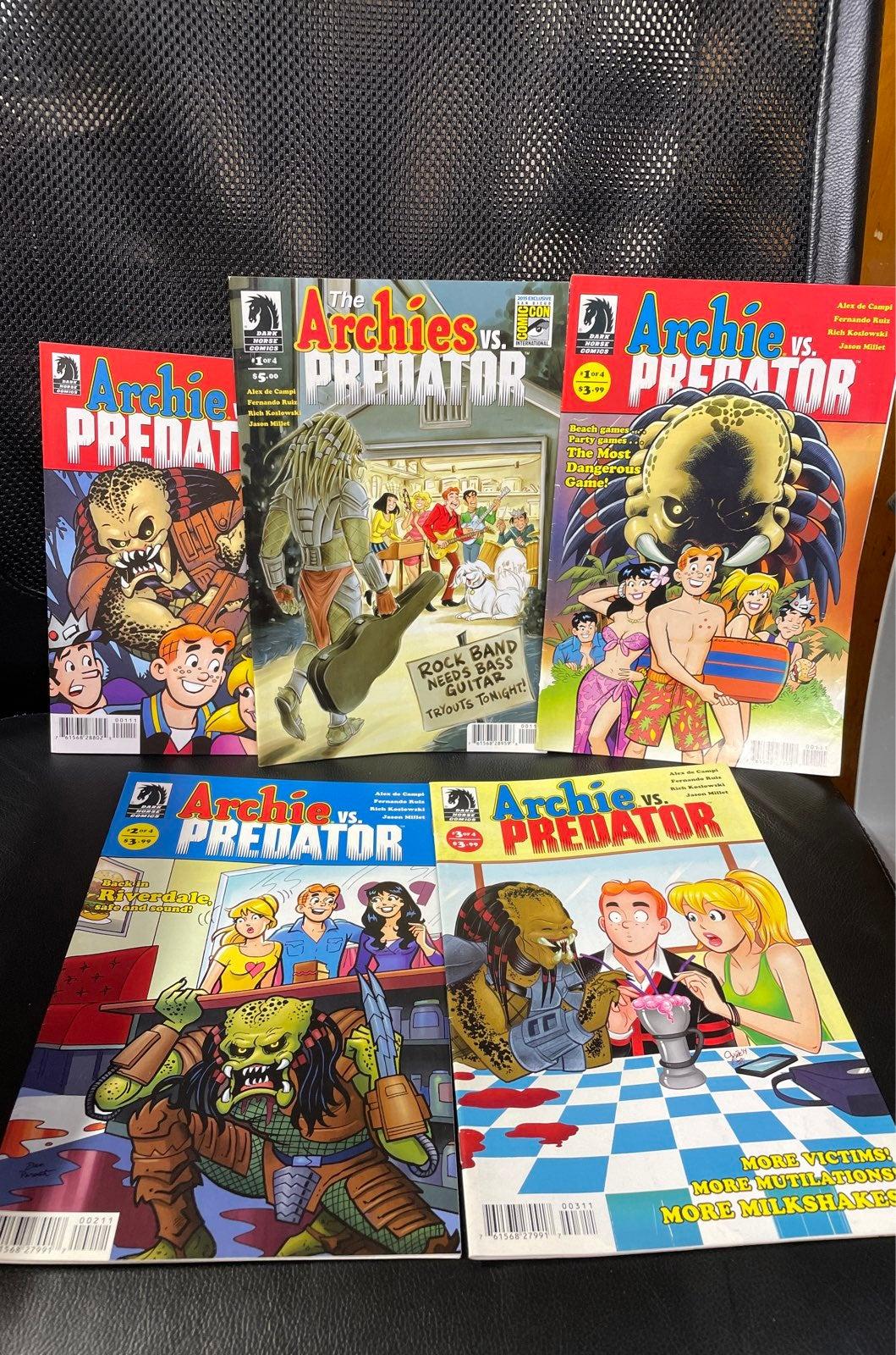 Archie v Predator 1 2 3 Ashcan SDCC lot