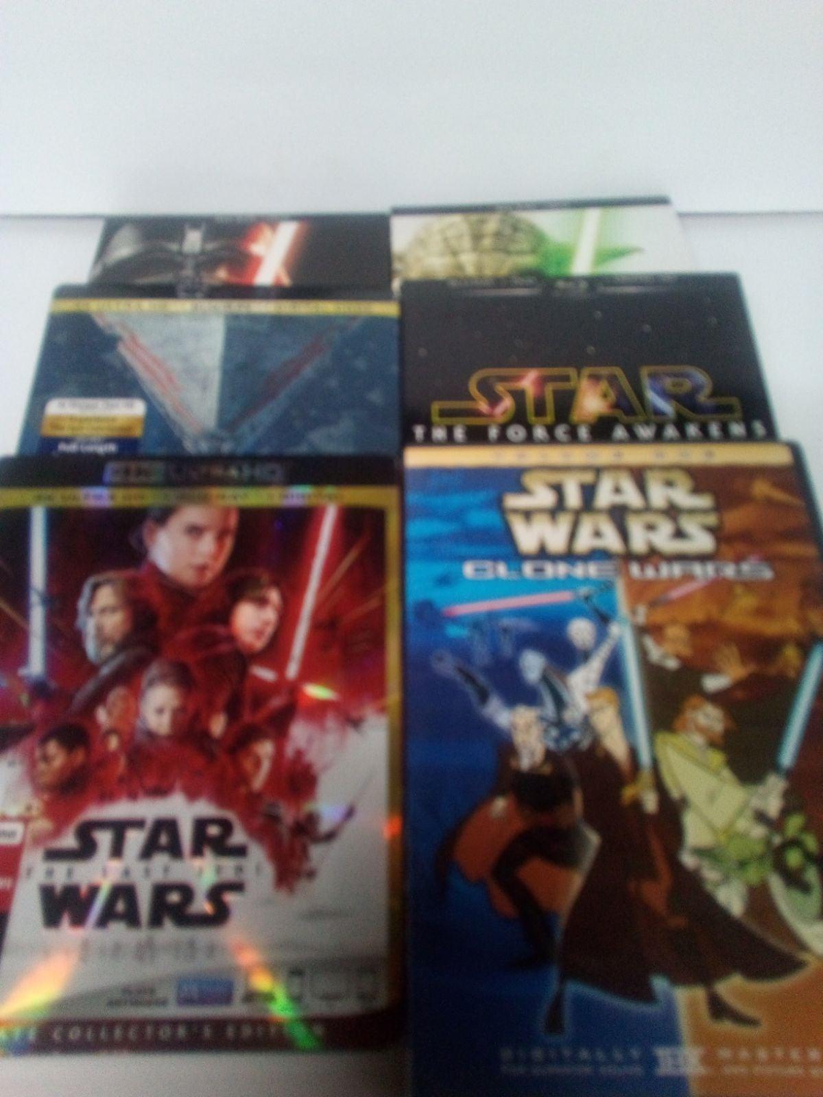 Star Wars 1-9 Blu Ray / DVD Lot