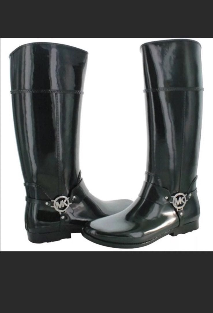 Hunter Green Michael Kors Rain Boot