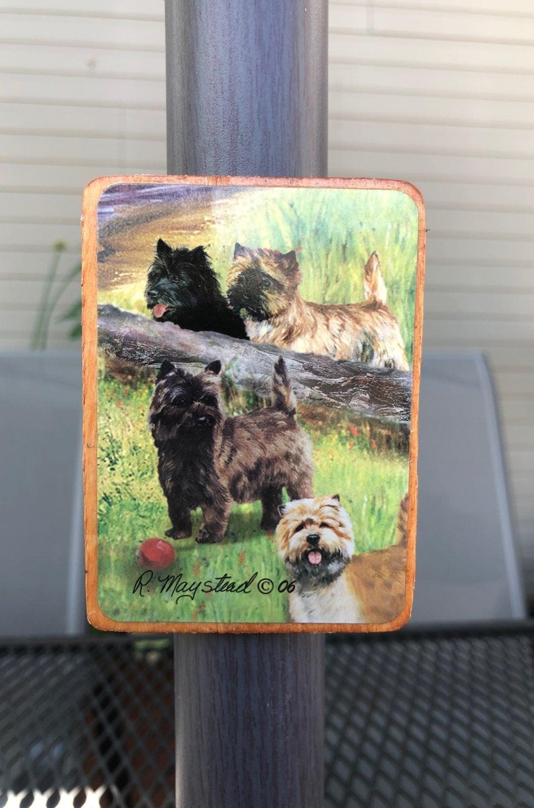Cairn Terrier Dog - Wood Magnet