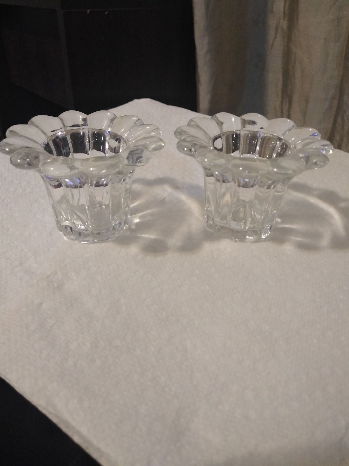 Beautiful glass candle holders