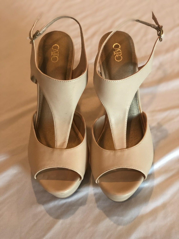 Cato Peep Toe Wedge Heels Sandal 9
