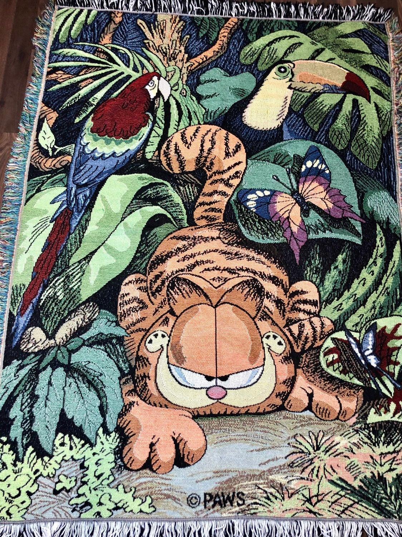 Vintage Garfield throw blanket