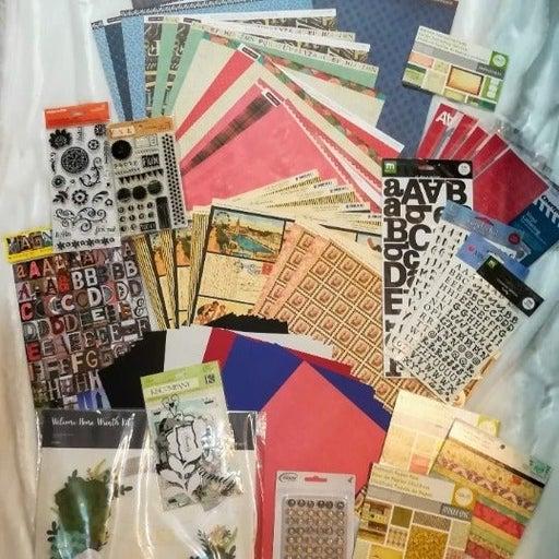 Large Scrapbook & Crafting Lot