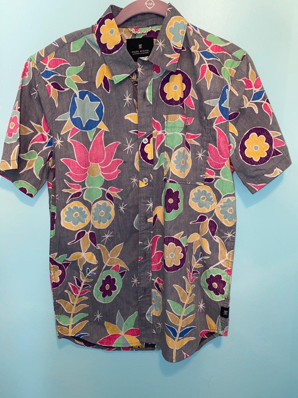 Roark Revival Floral Shirt Mint