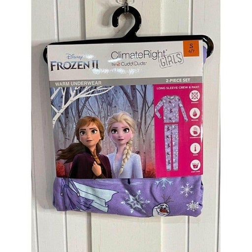 S 6-7 Frozen Climate Right Cuddl Duds Pajamas