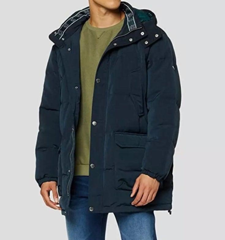 Armani exchange trench hooded zip jacket