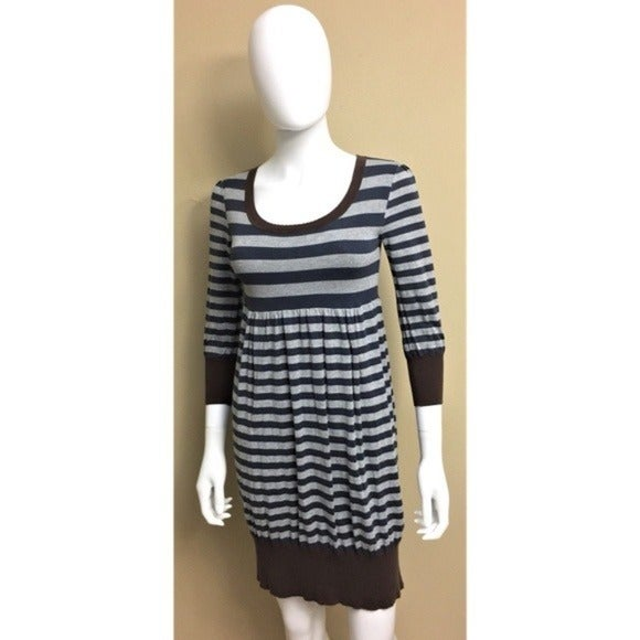BCBGMaxazria Gray Brown Silk Dress XS