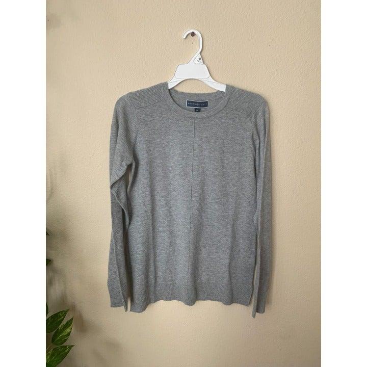 Karen Scott XS Knit top Solid Gray Tee