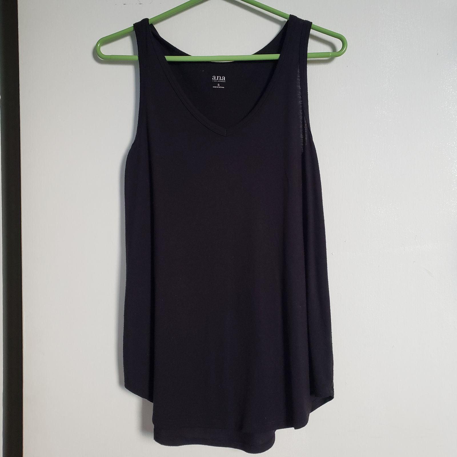 Ana black tank top blouse, S