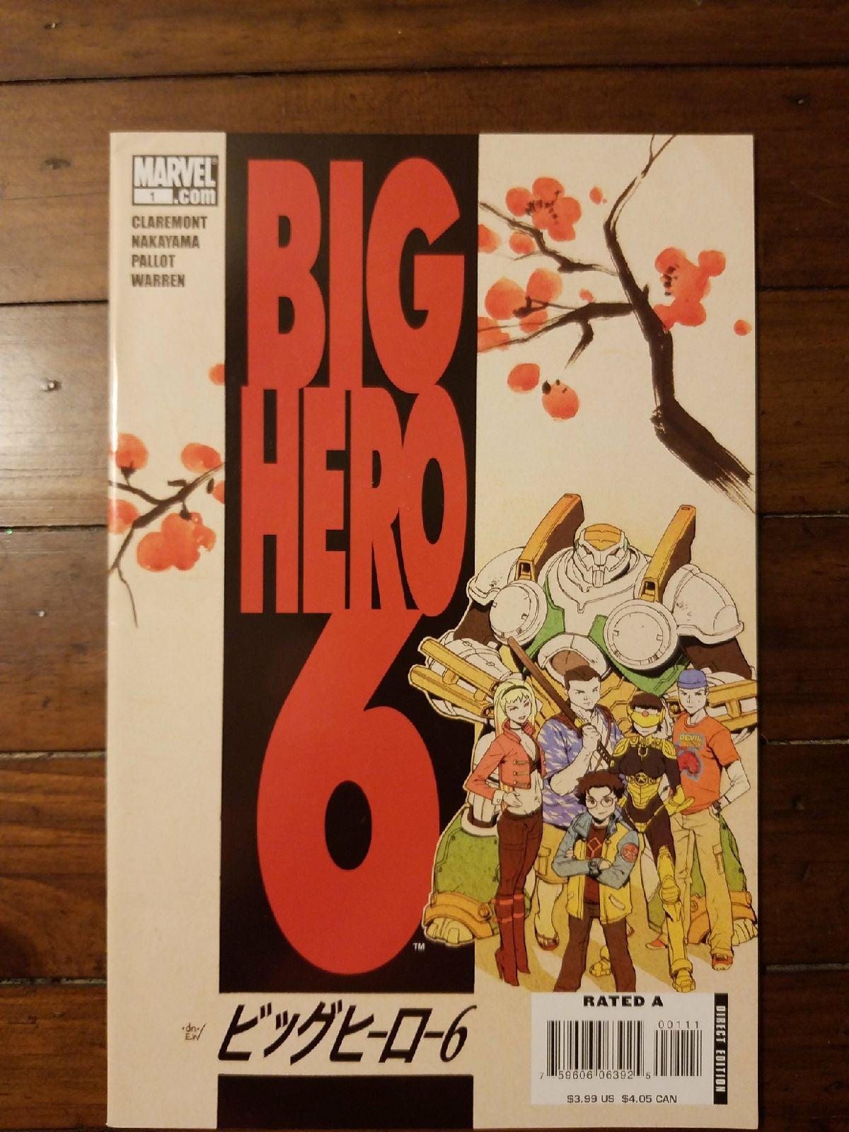 Marvel Big Hero 6 #1 Unread NM/ NM+