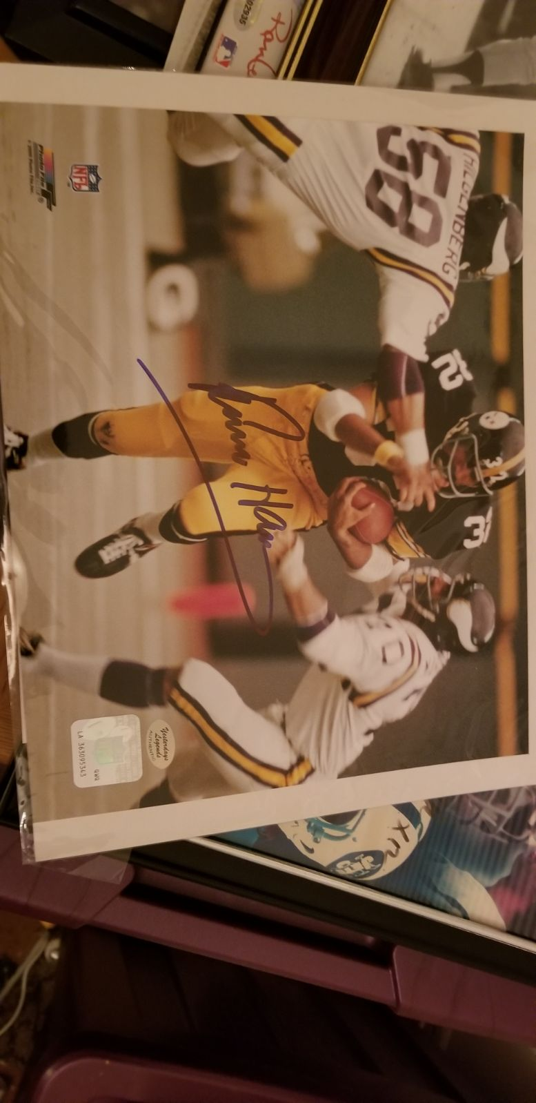 8 × 10 signed by Franco Harris.