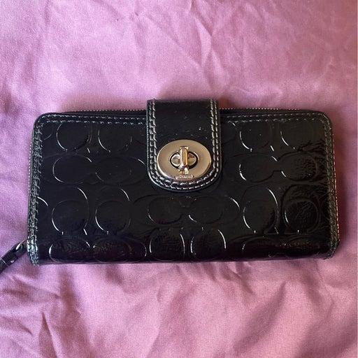 Coach Black Patent Wallet