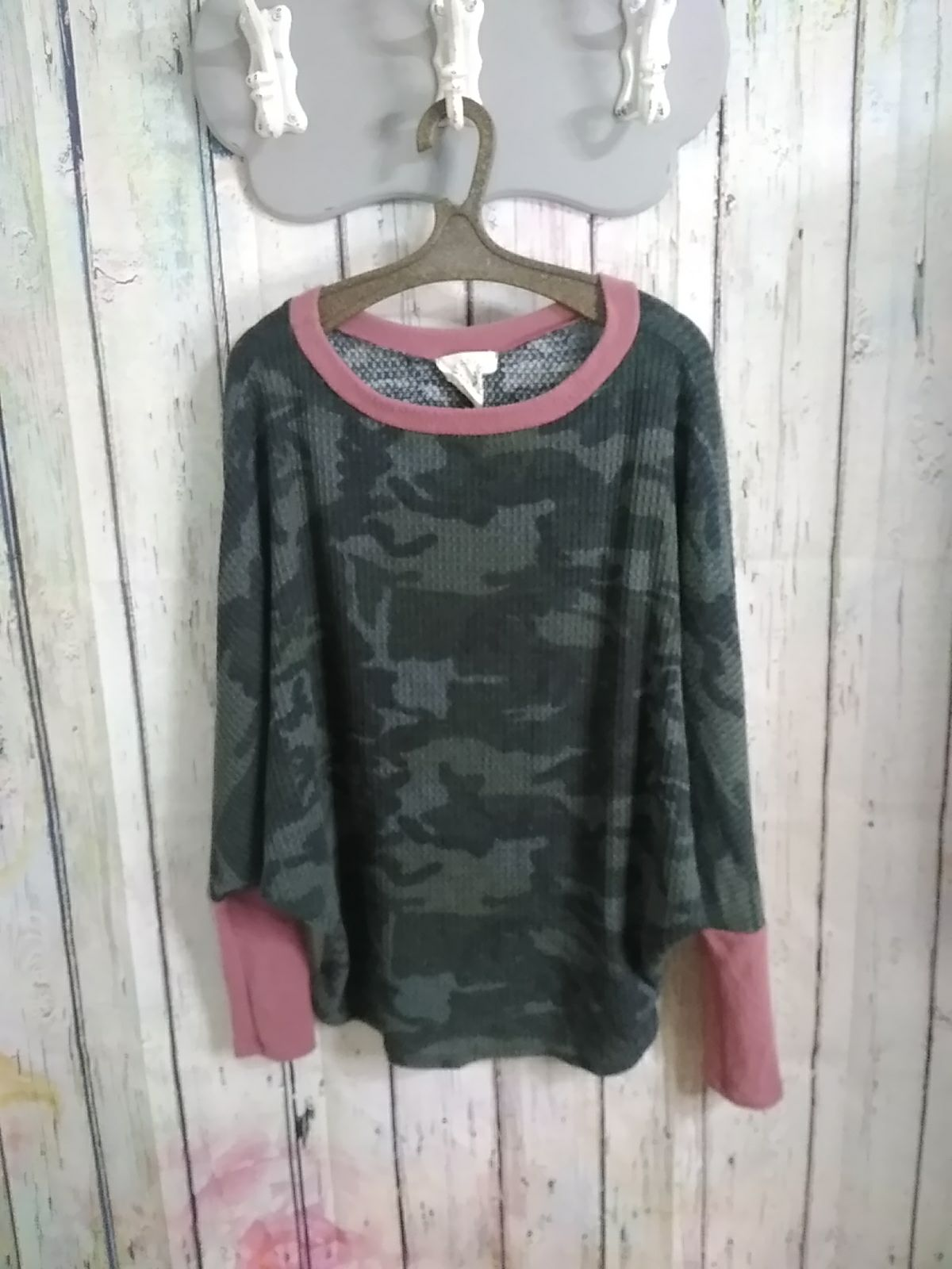 Long Sleeve Thermal Camo Top