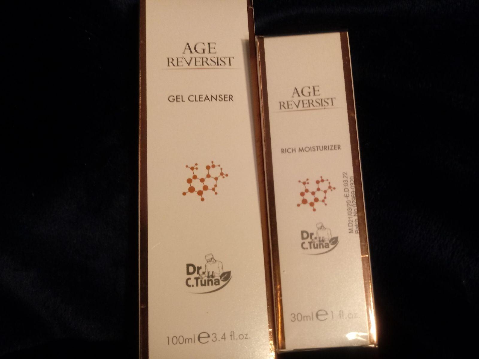 Age reversist gel cleanser and moisturiz