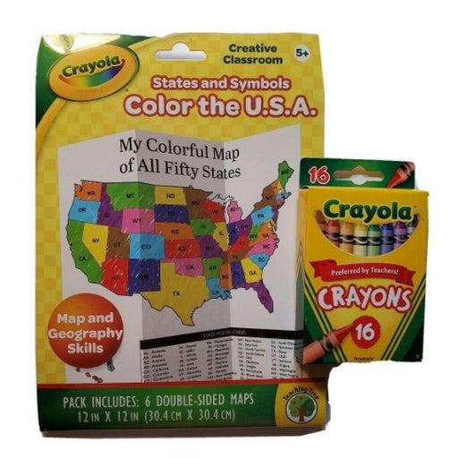 Crayola Crayons And States &Symbols Maps