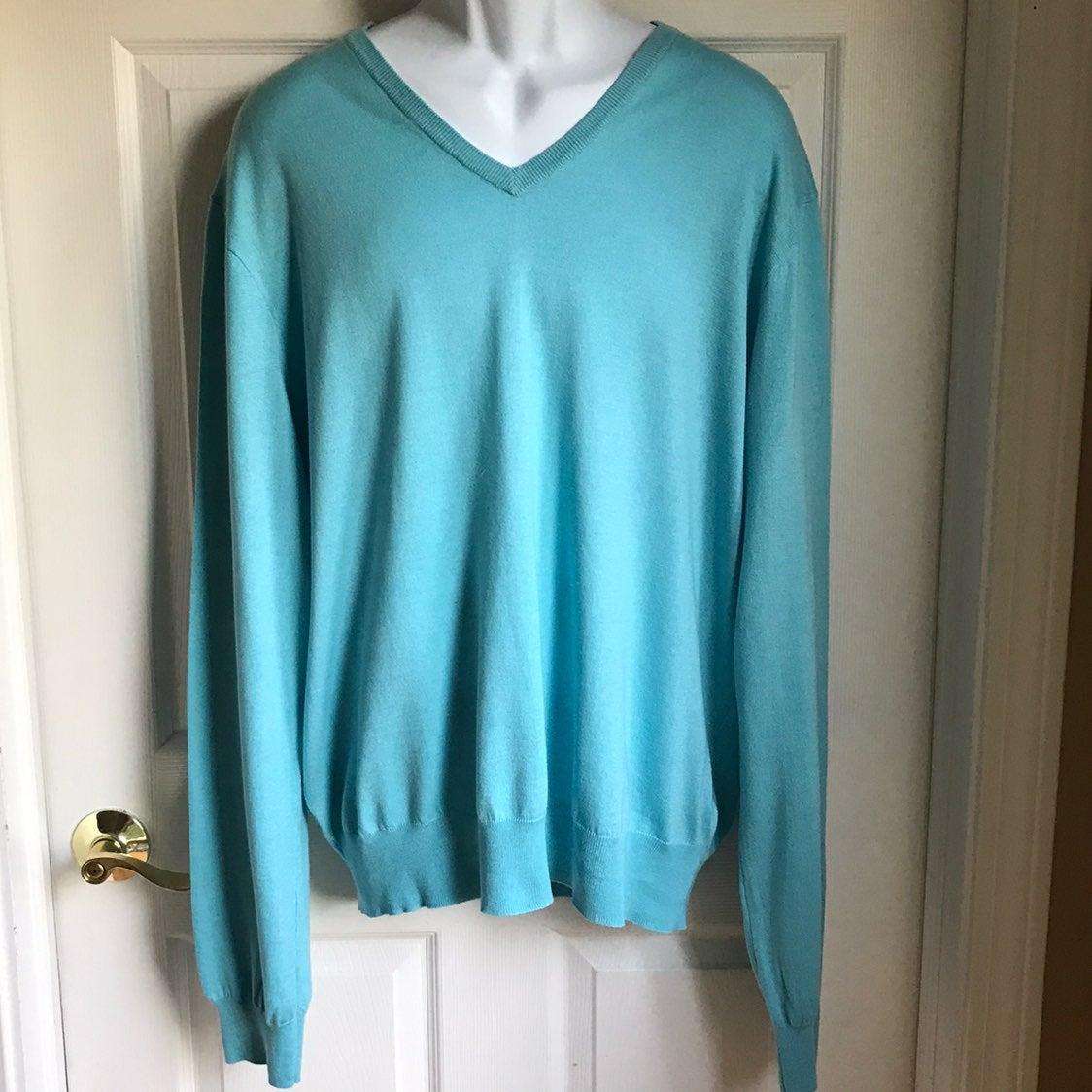 Ralph Lauren V-Neck Sweater Blue XXL