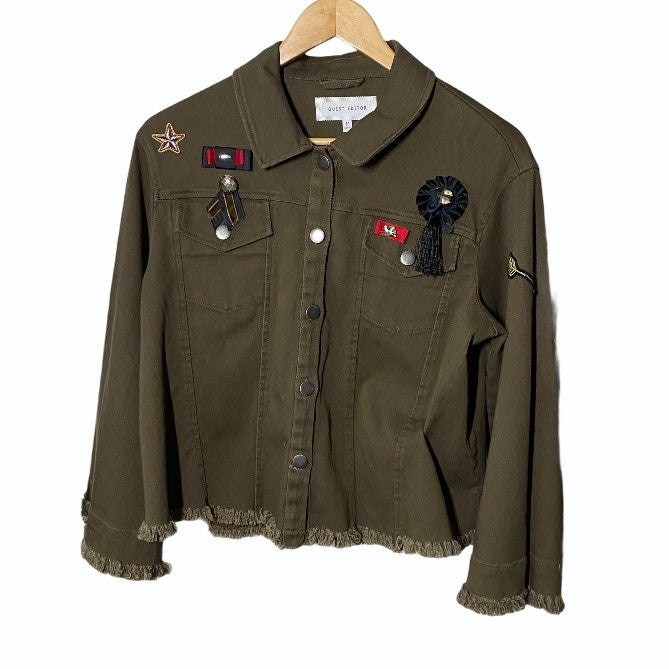Anthro Guest Editor army jacket