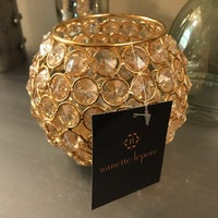 Nanette Lepore Gold Glass Pear Decor